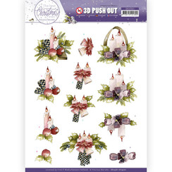 SB10561 - HJ19701 - Uitdrukvel - Precious Marieke - The Best Christmas Ever - Purple Flowers and Candles