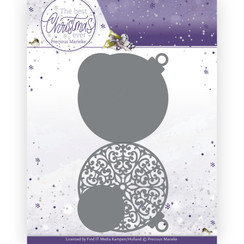 PM10208 - Mal - Precious Marieke - The Best Christmas Ever - Christmas Bauble Shape Card