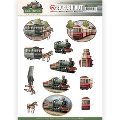 SB10576 - Uitdrukvel - Amy Design - Vintage Transport - Train