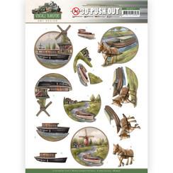 SB10577 - Uitdrukvel - Amy Design - Vintage Transport - Boat