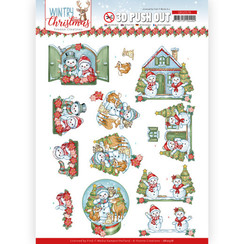 SB10578 - Uitdrukvel - Yvonne Creations - Wintry Christmas - Christmas Home