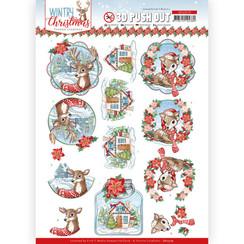 SB10579 - Uitdrukvel - Yvonne Creations - Wintry Christmas - Christmas Deer