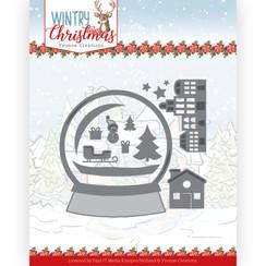 YCD10247 - Mal - Yvonne Creations - Wintery Christmas - Snowman in snow globe