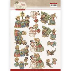 CD11714 - 10 stuks knipvel - Yvonne Creations - Have a Mice Christmas - Christmas Carol