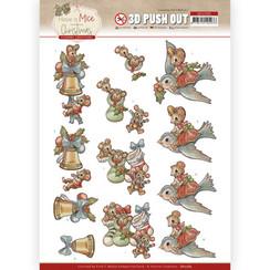 SB10585 - Uitdrukvel - Yvonne Creations  - Have a Mice Christmas - Christmas Socks