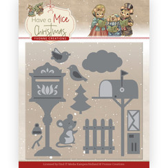 YCD10251 - Mal - Yvonne Creations - Have a Mice Christmas - Christmas Mouse Letters