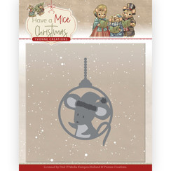 YCD10253 - Mal - Yvonne Creations - Have a Mice Christmas - Christmas Mouse Bauble