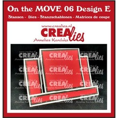 Crealies On The MOVE Mix Center Step Card with square CLMOVE06 10,5x14,5cm