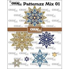 Crealies Patternzz Mix Rozet Starlight CLPATMix01 66x66mm