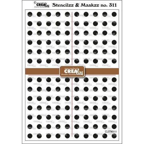 Crealies Stencilzz/Maskzz Cirkeltjes CLSTM311 15x21cm