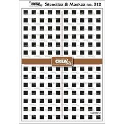 Crealies Stencilzz/Maskzz Vierkantjes CLSTM312 15x21cm