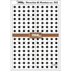 Crealies Stencilzz/Maskzz Zeshoekjes CLSTM313 15x21cm
