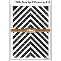 Crealies Stencilzz/Maskzz Hoeken CLSTM316 15x21cm