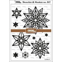 Crealies Stencilzz/Maskzz Rozet Starlight CLSTM317 15x21cm