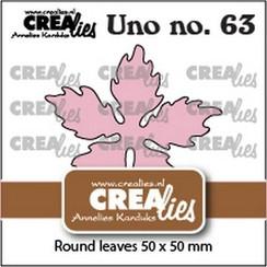Crealies Uno no. 63 Kerstster ronde bladeren CLUno63 50x50mm