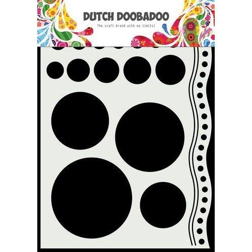 Dutch Doobadoo Mask Art A5 Doodle cirkels en rand 470.784.033 210x148mm