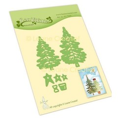 LeCrea - Leabilitie Kerstbomen snij en embossing mal 45.7569
