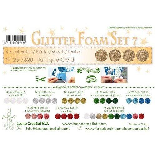 LeCrea - Glitter foam 4 vel A4 - Antiek goud 25.7620