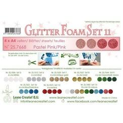 LeCrea - Glitter foam 4 vel A4 - Roze 25.7668