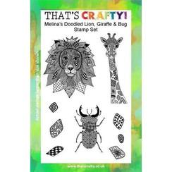 Thats Crafty! Clearstamp A5 - Melina's Leeuw, Giraffe, Kever 107112