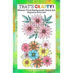 Thats Crafty! Clearstamp A5 - Melina's Bloemen achtergrond 107113