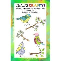 Thats Crafty! Clearstamp A5 - Melina's Vogels en Takken 107114