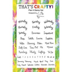 Thats Crafty! Clearstamp A5 - Plan It 107110