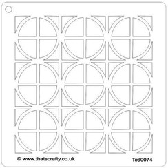 Thats Crafty! Mask stencil - Vierkanten en cirkels 107116 15x15cm