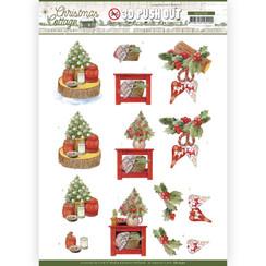 SB10590 - Uitdrukvel - Jeanines Art - Christmas Cottage - Christmas Decoration