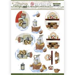 SB10593 - Uitdrukvel - Jeanines Art - Christmas Cottage - Wood Decorations