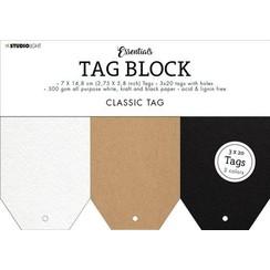 Studio Light Tag Block Essentials Classic SL-ES-TAGBL01 148x210mm