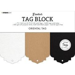 Studio Light Tag Block Essentials Oriental SL-ES-TAGBL02 148x210mm