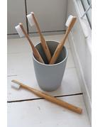 Zuperzozial Set van 2 bamboe tandenborstels