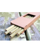 Zuperzozial Bamboe rietjes + borstel
