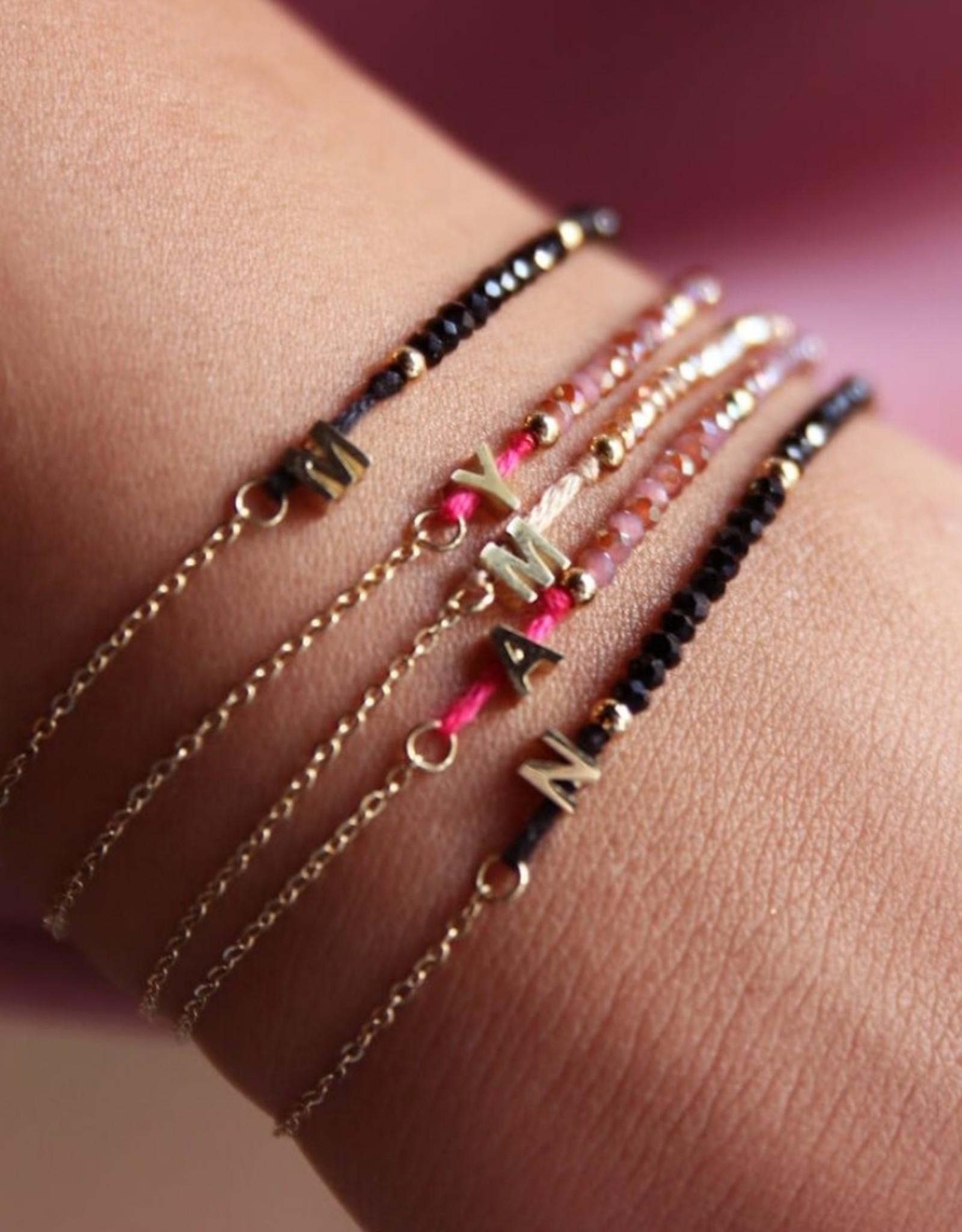 MyJewellery Kralen armband met initial