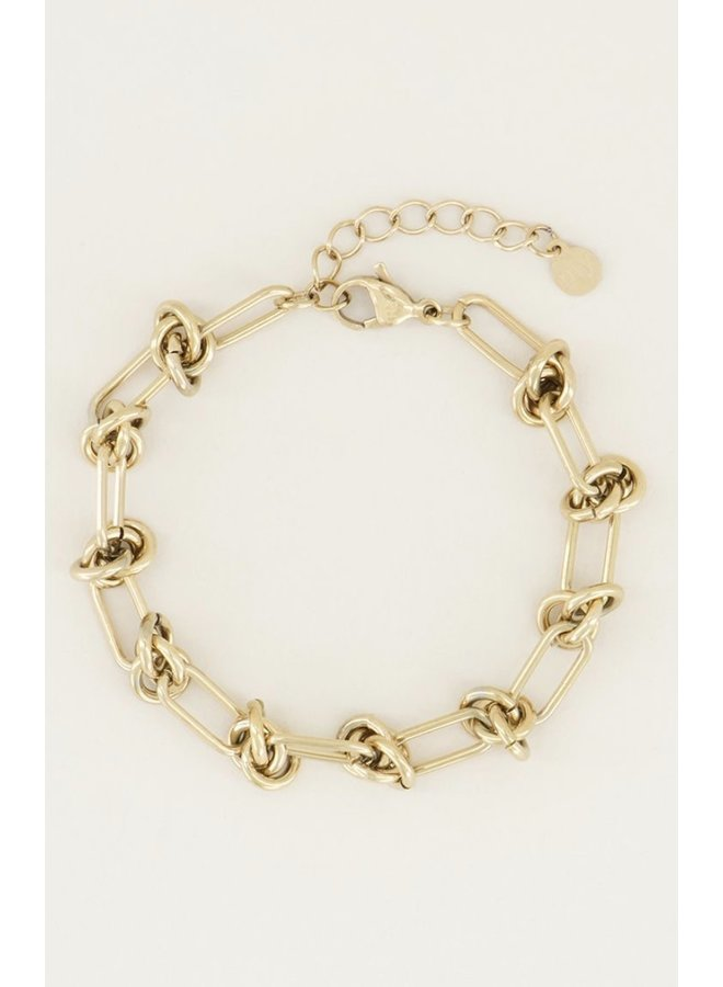 Armband Knoopjes Goud