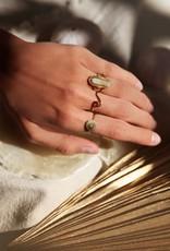 MyJewellery Ring Grijze Steen Goud