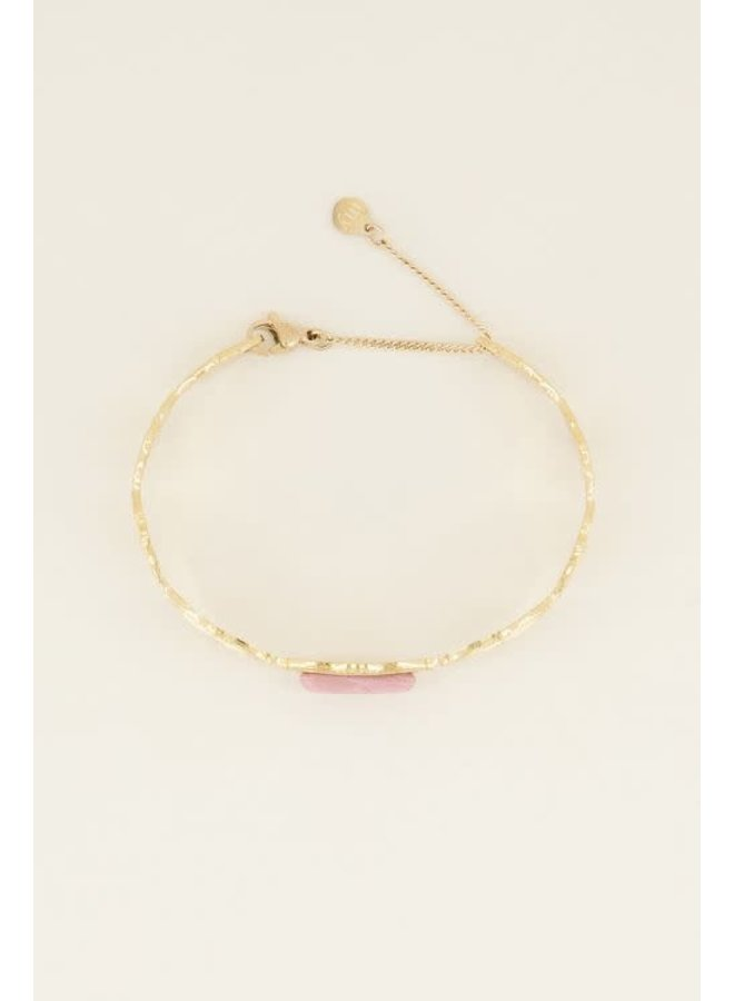 Bangle Roze Steen