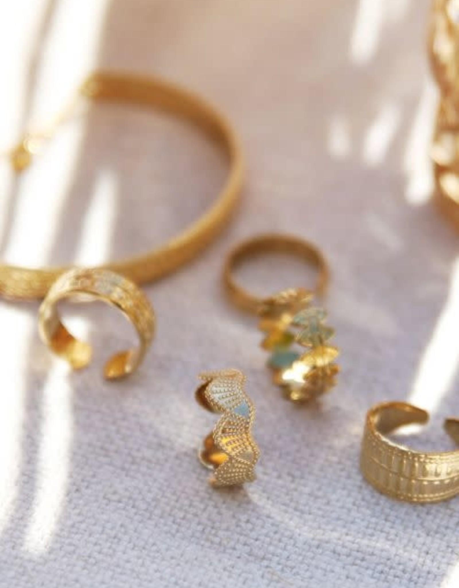 MyJewellery Ring Met Bubbels Goud