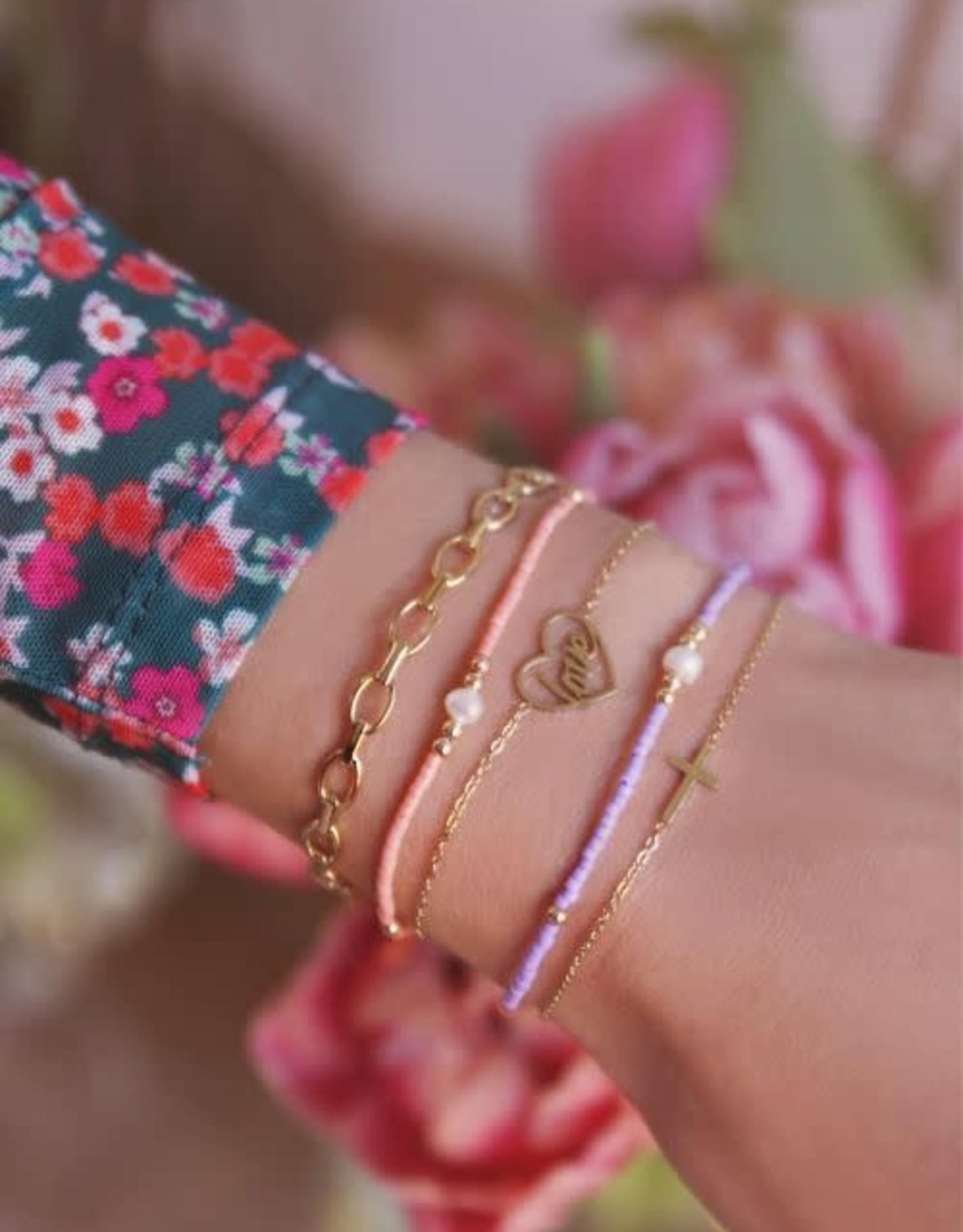 MyJewellery Armband Klein Kruisje Goud
