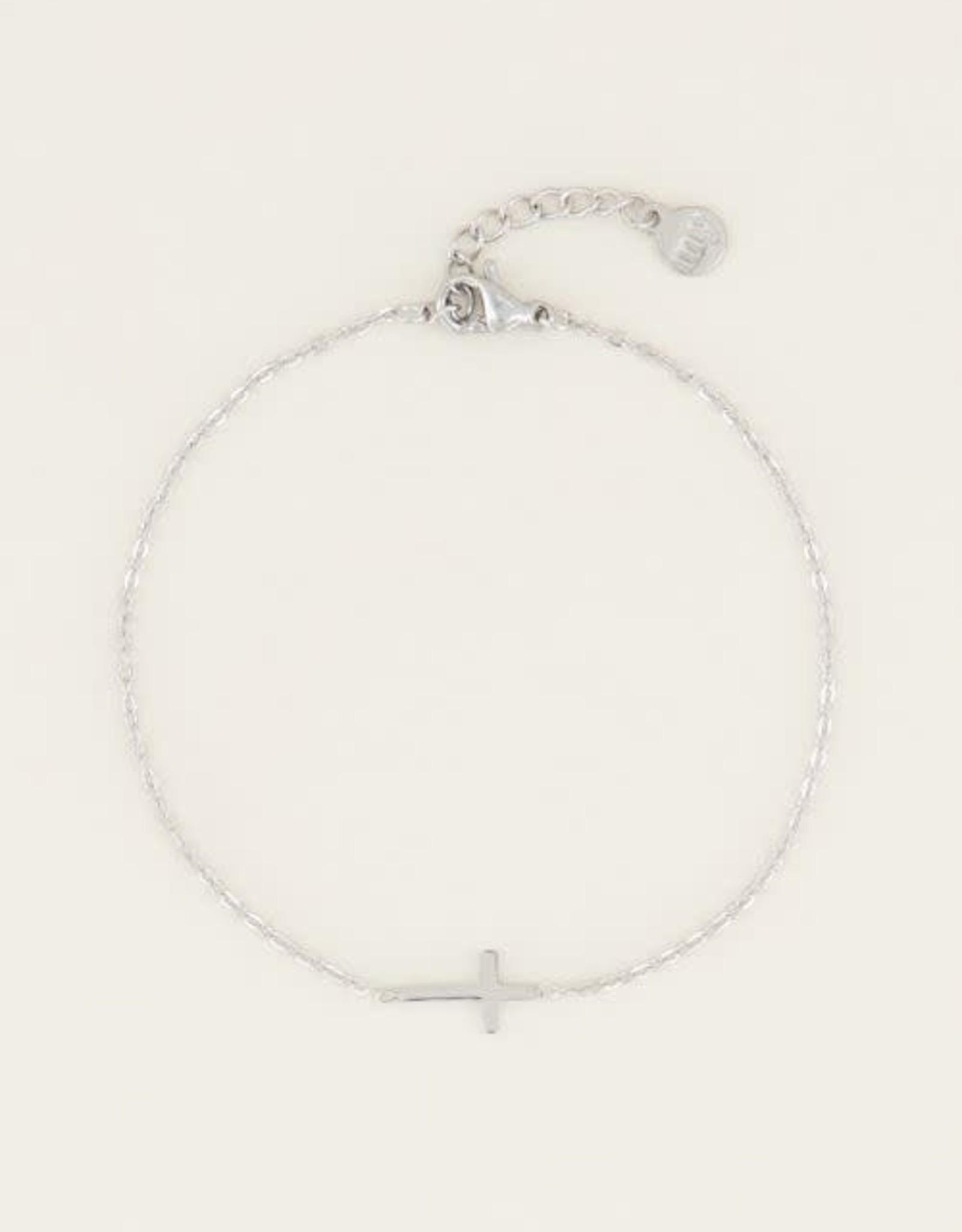 MyJewellery Armband Klein Kruisje Zilver