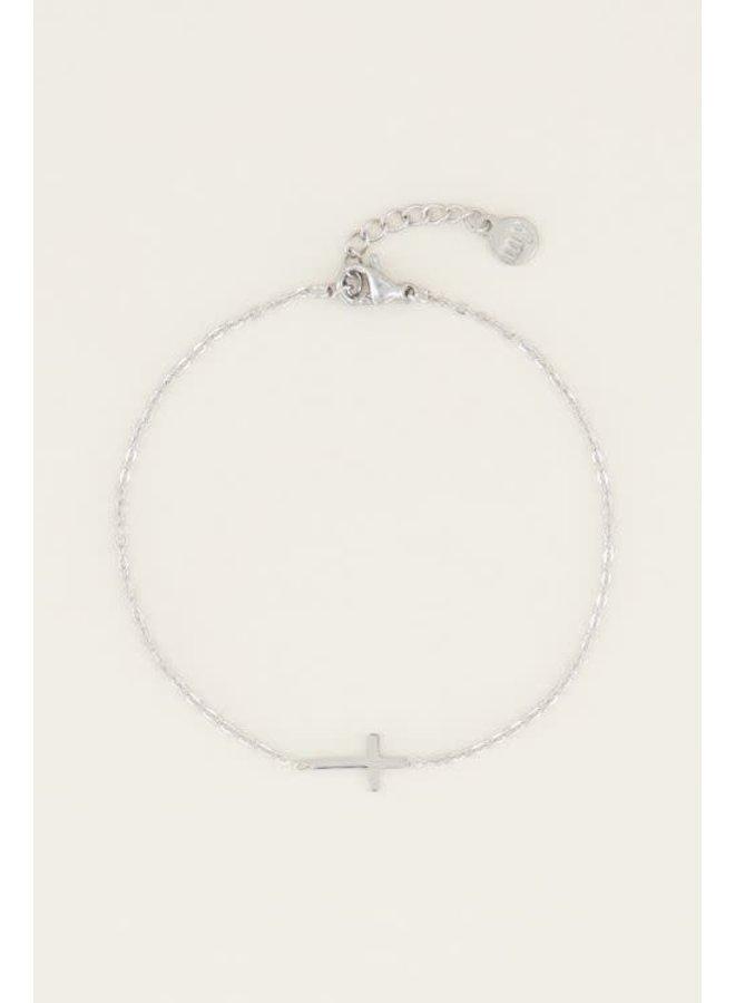 Armband Klein Kruisje Zilver