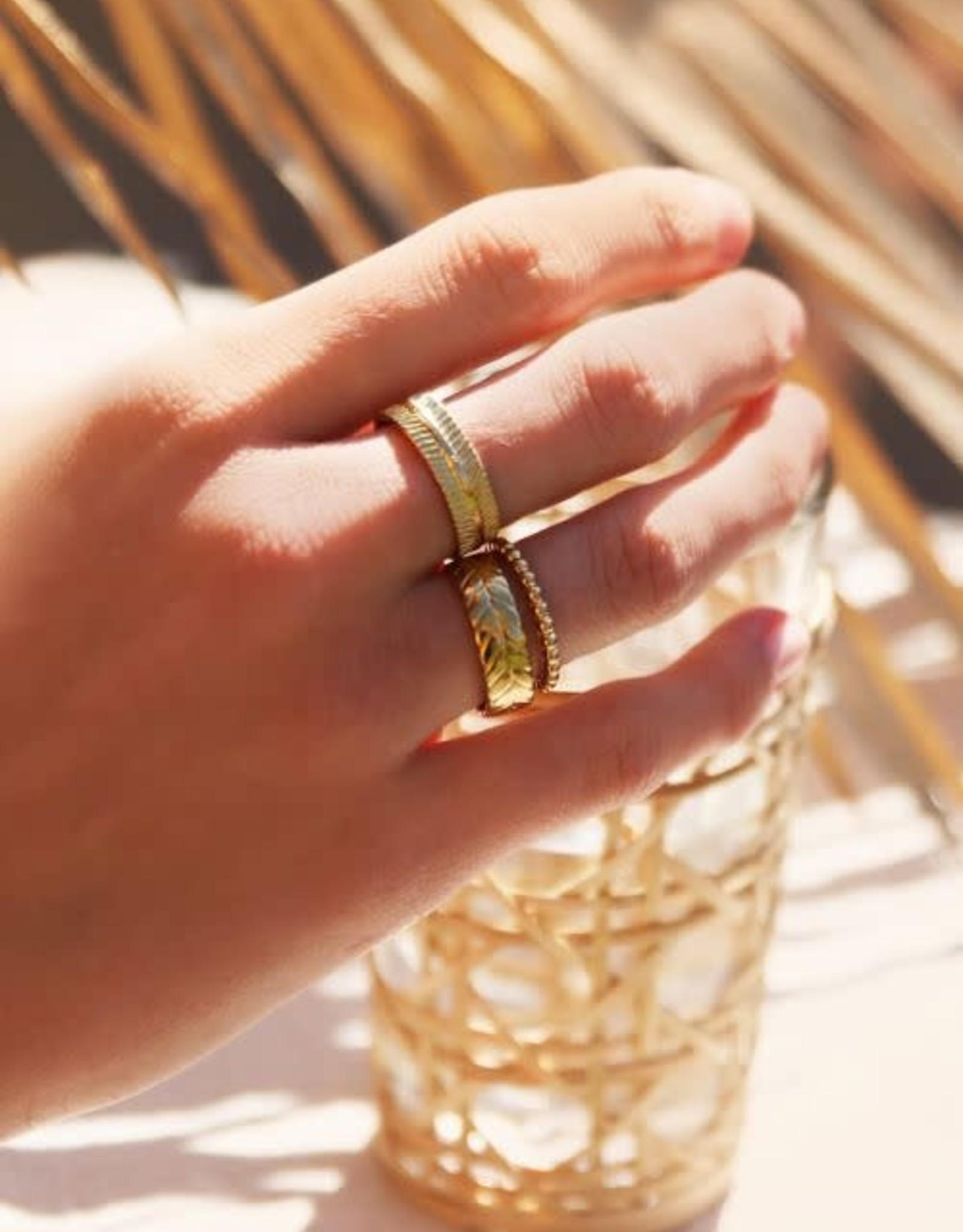 MyJewellery Ring Met Streepjes Goud