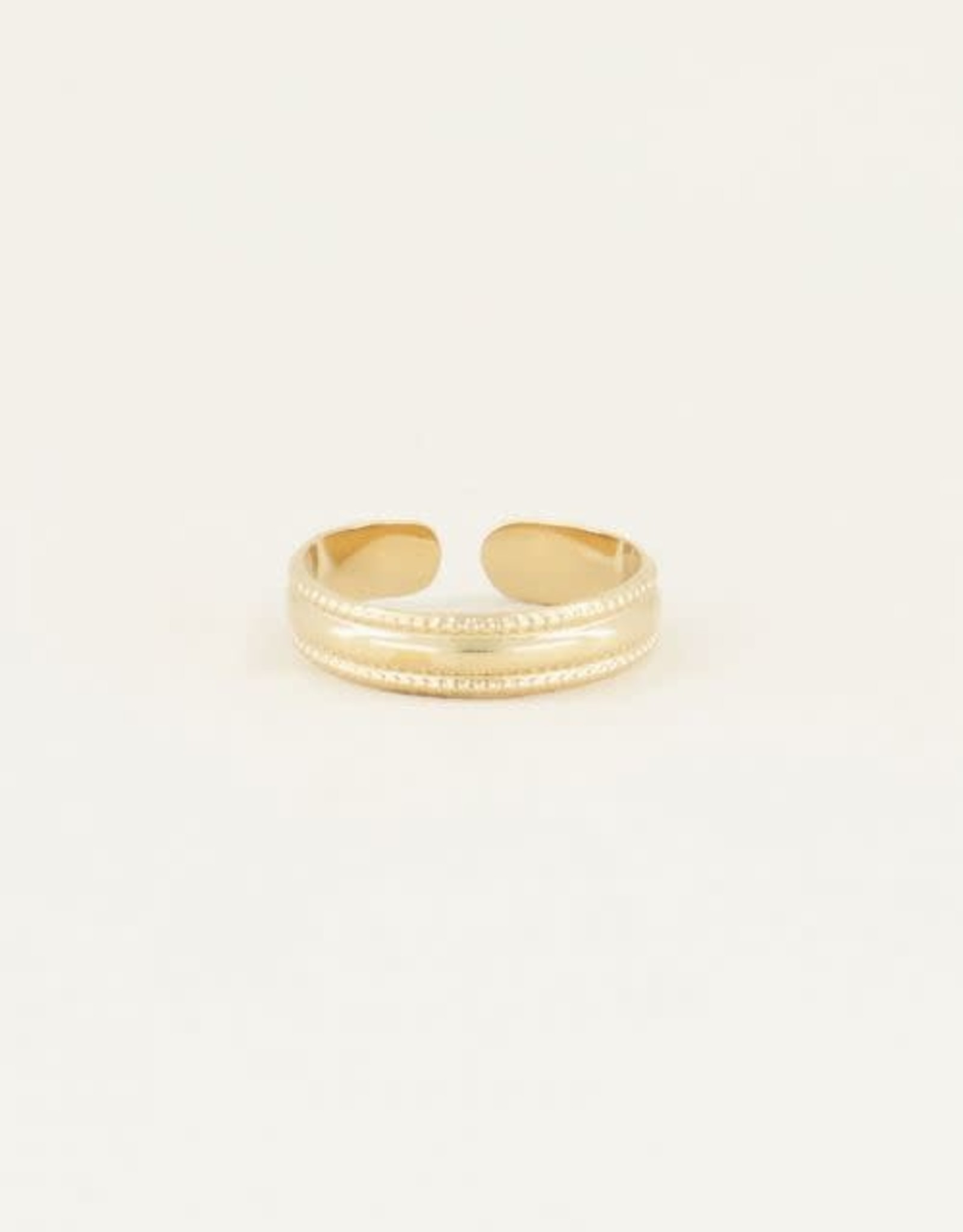 MyJewellery Ring Met Patroon Basic Goud