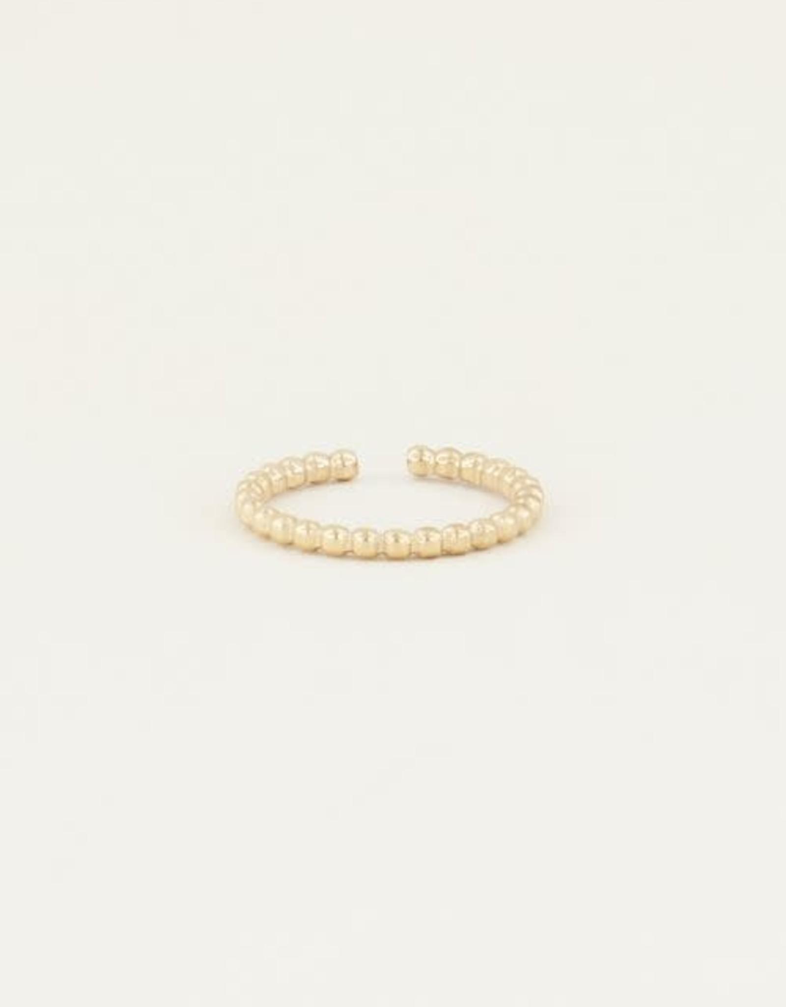 MyJewellery Ring Fijn Bolletjes Goud