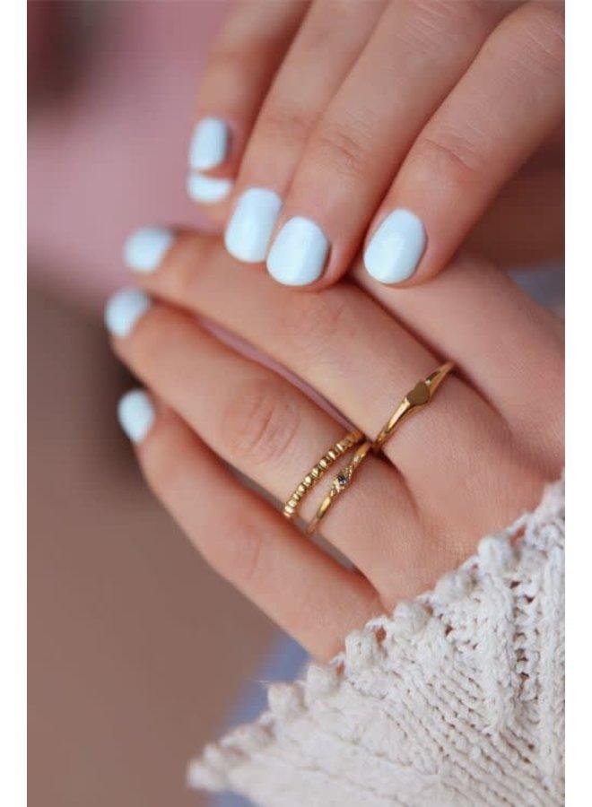 Ring Fijn Bolletjes Goud
