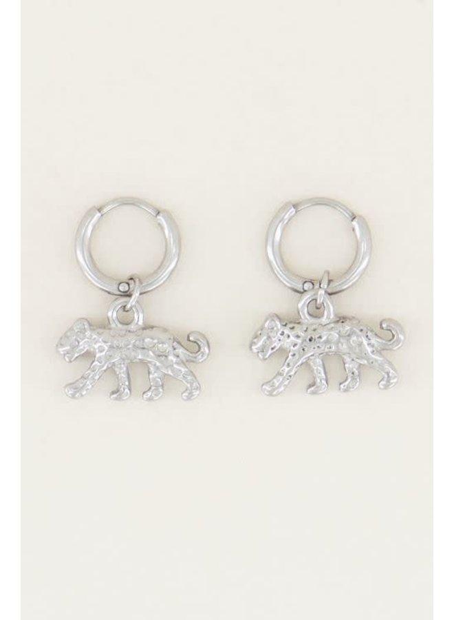 Oorringen Luipaard Zilver