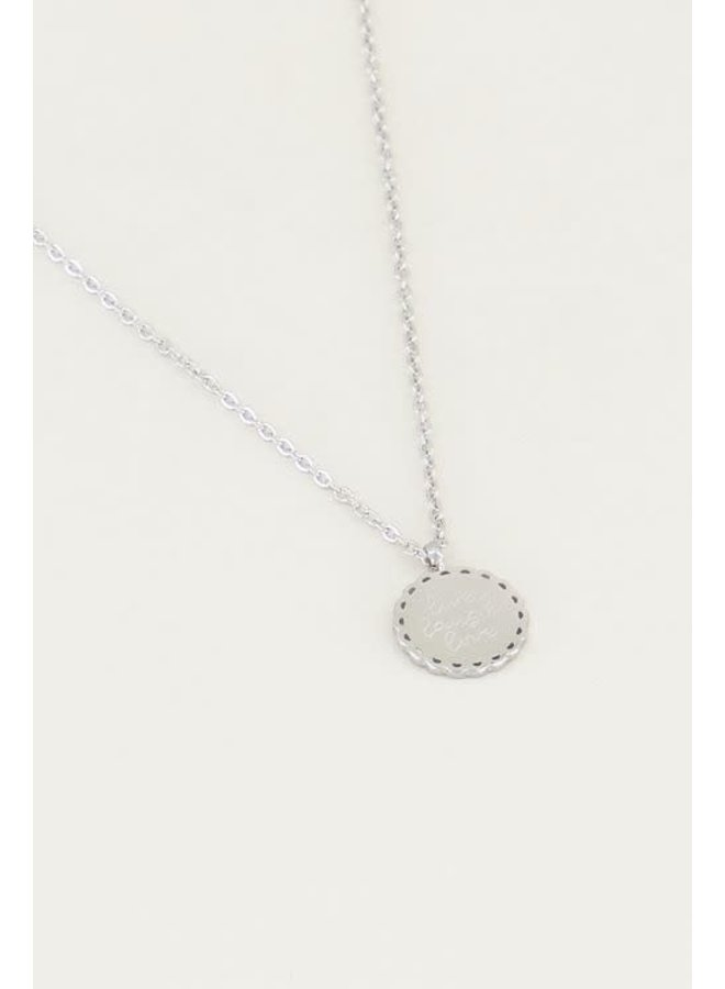 Ketting Live Laugh Love Zilver