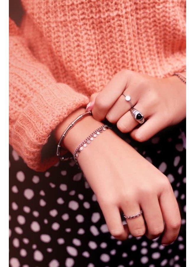 Armband Muntjes Zilver