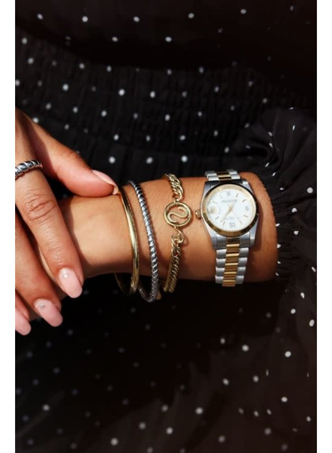 Armband Chunky Initials Goud